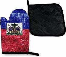 Bikofhd Haiti Flagge blau und rot Labrador