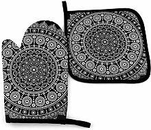 Bikofhd Mandala Aboriginal Dot Painting Weiß auf