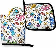 Bikofhd Niedliche Cartoon Octopus und Starfish