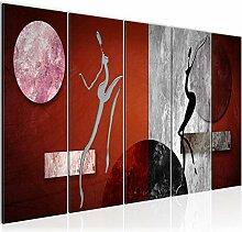 Bild Abstrakt Figuren Kunstdruck Vlies
