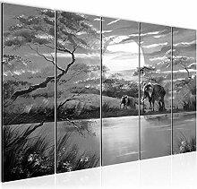 Bild Afrika Elefant Kunstdruck Vlies Leinwandbild