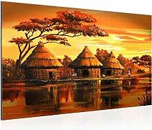 Bild Afrika Massai Wandbild Vlies - Leinwand