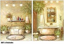 Bild Bad, Platte aus Dekoration Badewannen