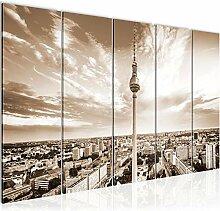 Bild Berlin Fernsehturm Kunstdruck Vlies