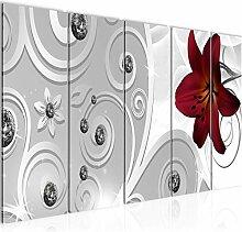 Bild Blumen Lilie Kunstdruck Vlies Leinwandbild
