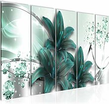 Bild Blumen Lilien Kunstdruck Vlies Leinwandbild
