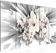 Bild Blumen Magnolien Kunstdruck Vlies