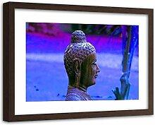 Bild Brauner Rahmen XXL Buddha Wanddeko Skulptur