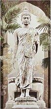 Bild Buddha H/B/T ca. 150/70/3,5 cm, klein beige