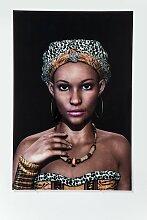Bild GLAS AFRICAN QUEEN FACE