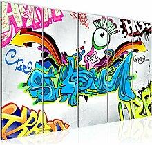Bild Graffiti Kunstdruck Vlies Leinwandbild