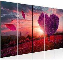 Bild Herbst Baum Herz Kunstdruck Vlies
