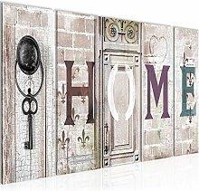 Bild Home Vintage Kunstdruck Vlies Leinwandbild