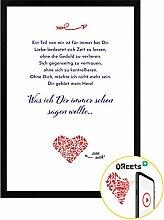 Bild inkl. Bilderrahmen Geschenkidee Valentinstag