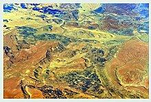 Bild mit Rahmen Hady Khandani - GEO ART - LANDSCAPE IN SOUTHERN NAMIBIA 08 - Digitaldruck - Holz silber, 104 x 70cm - Premiumqualität - MADE IN GERMANY - ART-GALERIE-SHOPde