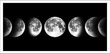 Bild Monde, mit Rahmen 25x50 cm schwarz
