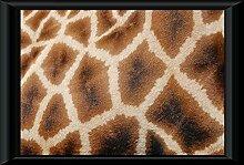 Bild Poster im Rahmen Muster Giraffe Vernetzt