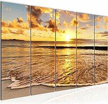 Bild Sonnenuntergang Strand Kunstdruck Vlies