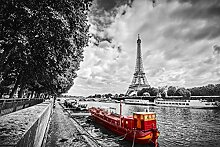 BILD TAPETE PAPERMOON, Eiffelturm Seine ,VLIES