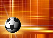 BILD TAPETE PAPERMOON, Fußball ,VLIES Fototapete,