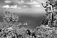 BILD TAPETE PAPERMOON, Landschaft mit Meer Schwarz