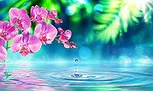 BILD TAPETE PAPERMOON, Zen Orchidee und Tröpfchen
