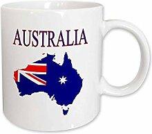 Bild von Australien-Flaggen-Farben im Land-Umriss