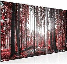 Bild Wald Landschaft Kunstdruck Vlies Leinwandbild