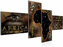 Bild XXL Afrika Karte 200 x 100 cm Kunstdruck