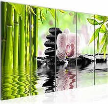 Bild XXL Orchidee Feng Shui Kunstdruck Vlies