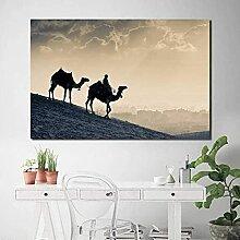 Bilddrucke Kameleinstellung Sonne Wüste
