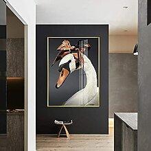 Bilddrucke Kunstwand Moderner Schwan mit Kopftuch