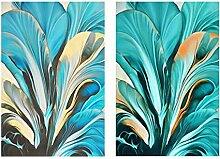 Bilder - 2x60x80cm - Kein Rahmen - Abstrakte
