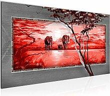 Bilder Afrika Elefant Wandbild Vlies - Leinwand