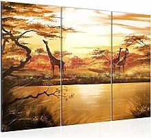 Bilder Afrika Giraffe Wandbild 120 x 80 cm - 3