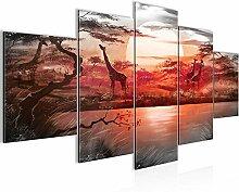 Bilder Afrika Giraffe Wandbild 200 x 100 cm Vlies