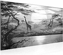 Bilder Afrika Giraffe Wandbild Vlies - Leinwand