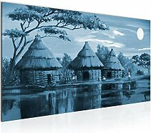 Bilder Afrika Massai Wandbild Vlies - Leinwand