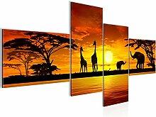 Bilder Afrika Sonnenuntergang Wandbild 150 x 70 cm