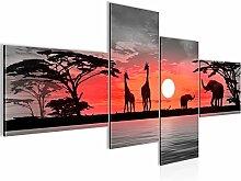 Bilder Afrika Sonnenuntergang Wandbild 200 x 95 cm