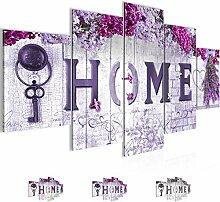 Bilder Home Blumen Wandbild Vlies - Leinwand Bild