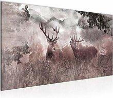 Bilder Natur Hirsche Wandbild Vlies - Leinwand