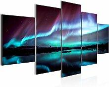 Bilder Polarlicht Wandbild Vlies - Leinwand Bild