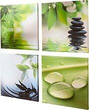 Bilder-Set Bali (4-tlg.), grün