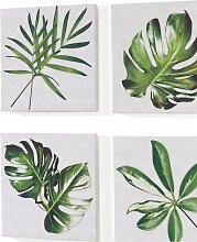 Bilder-Set Blätter (4-tlg. Set), grün