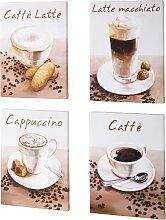 Bilder-Set Kaffee (4-tlg. Set), braun