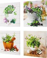 Bilder-Set Kräuter (4-tlg.-Set), grün