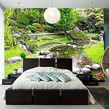 Bilder Wandbild Vlies Gartenteich 200CM x 140CM