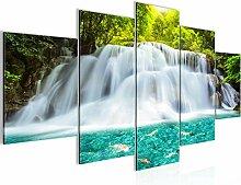 Bilder Wasserfall Landschaft Wandbild Vlies -