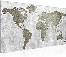Bilder Weltkarte World Map Wandbild Vlies -